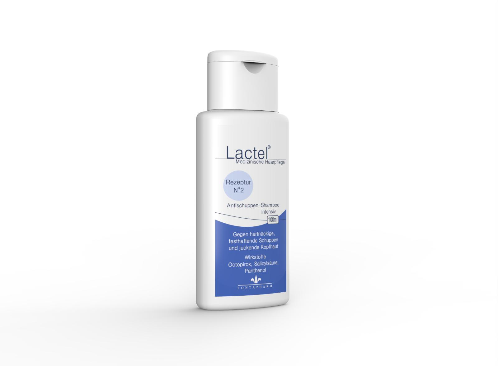 Lactel N°2, das Antischuppenshampoo für die extrem schuppige Kopfhaut mit Octopirox, Salicylsäure und Panthenol