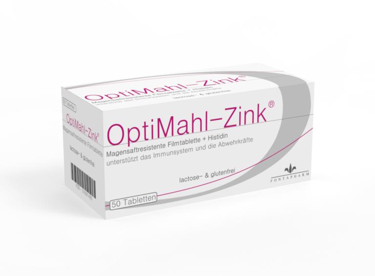 OptiMahl Zink, Magensaftresistent, lactose- und glutenfrei, mit Histidin. Bei Akne, Wundheilungsstörungen oder für das Immunsystem.