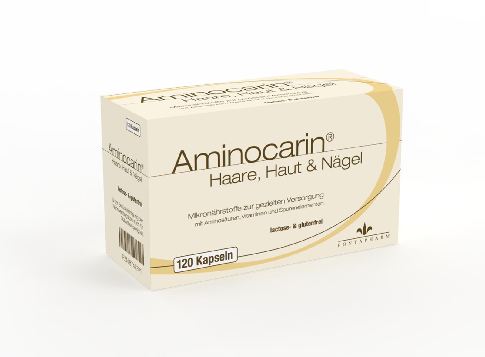 Aminocarin Kapsel, gezielte Nährstoffe für Haare Hgaut und Nägel