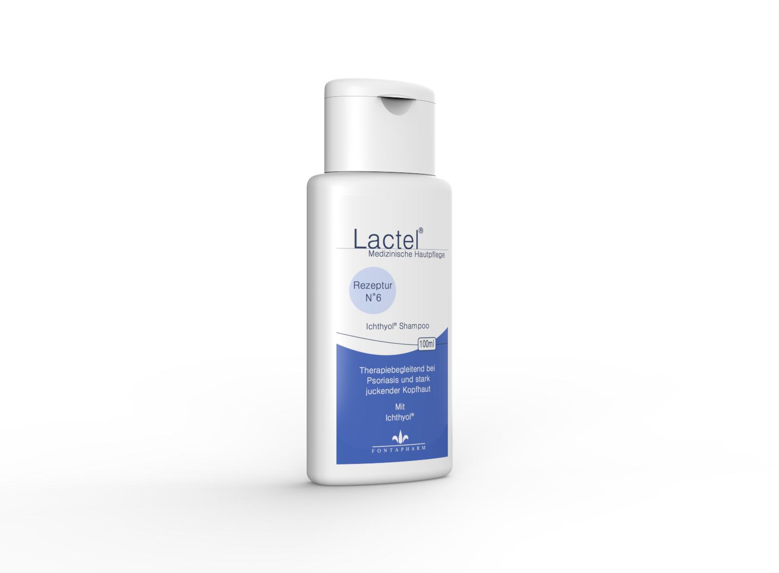 Lactel N° 6, das Shampoo gegen juckende, festhaftende Kopfhautshuppen mit Ichthyol