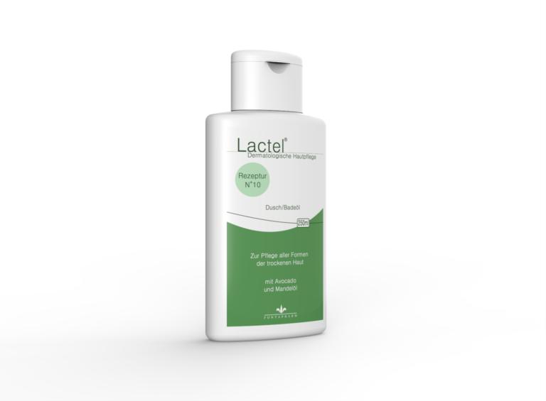 Lactel N° 10, das Dusch- und Badeöl für die trockene Haut mit Avocadoöl und Mandelöl