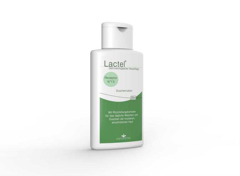 Lactel N° 13, die Duschemulsion mit Rückfettungskomplex für die trockene Haut