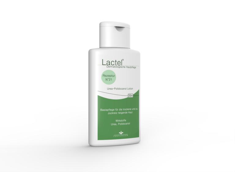 Lactel N° 21, die Körperlotion für die trockene, juckende Haut mit 5% Urea und 3% Polidocanol