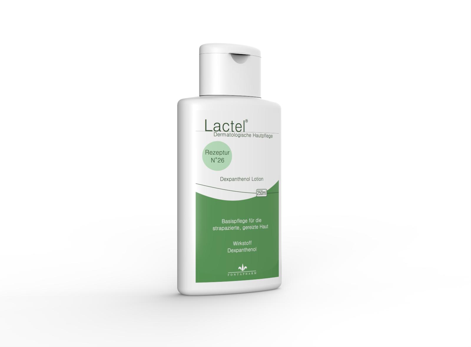 Lactel N° 26, die Körperlotion für die trockene Haut mit 5% Dexpanthenol
