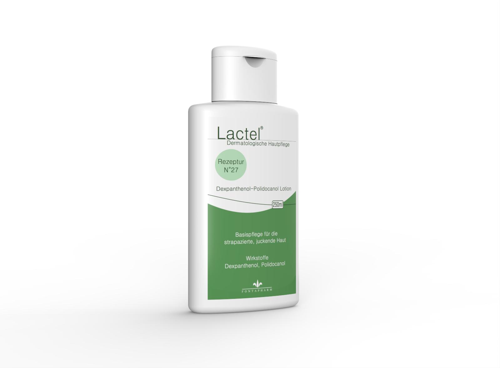 Lactel N° 27 die Körperlotion für die juckende, strapazierte Haut Haut mit 5% Dexpanthenol und 3% Polidocanol